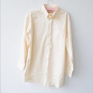 Men's cream button down dress shirt